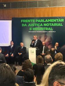 Lançamento no Congresso Nacional, da Frente Parlamentar da Justiça Notarial e Registral.