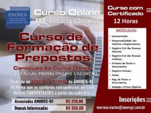 EAD – CURSO DE FORMAÇÃO DE PREPOSTOS