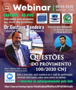 WEBINAR ENOREG RJ – Questões do provimento 100/2020 CNJ