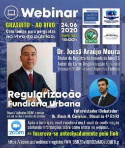 WEBINAR ENOREG Regularização Fundiária Urbana