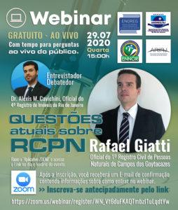 Webinar – Questões atuais sobre RCPN