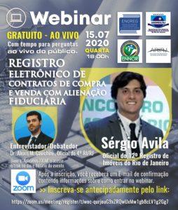 WEBINAR – Registro eletrônico de contratos de compra e venda com alienação fiduciária