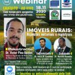 Webinar – Imóveis Rurais: Aspectos notariais e registrais.