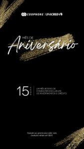 COOPNORE – Mês de aniversário: APROVEITE!