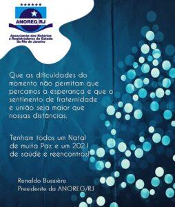 Mensagem de Fim de Ano do Presidente da ANOREG/RJ