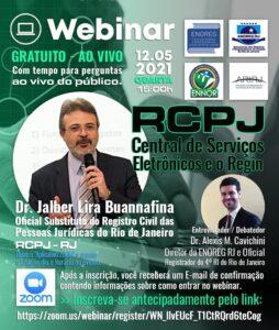 Webinar da ENOREG RJ sobre RCPJ – Central de serviços eletrônicos e o Regin