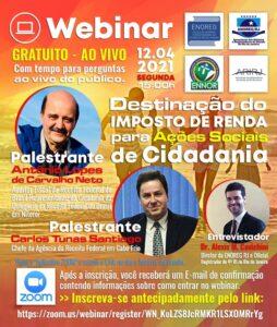 Webinar – Destinação do imposto de renda para ações sociais